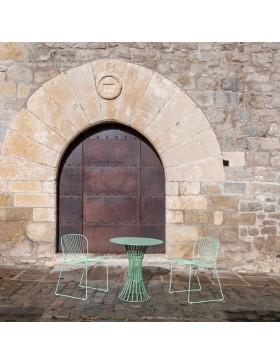 Mesa metálica Bolonia para hotel. restaurante, cafetería, bar, terraza, evento, catering