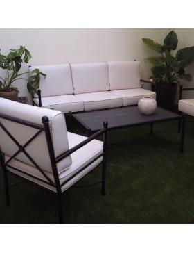 Sillón y sofá de forja Nilo para hostelería restauración, contract.