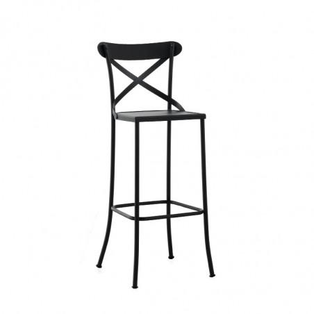 Taburetes de forja interior y exterior de dise o muebles met licos hosteler a contract retail - Bancos de forja para exterior ...