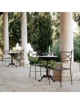 Mesa y sillas de forja modelo Mónaco