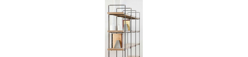 Metalic shelves customized - Fusta i Ferro